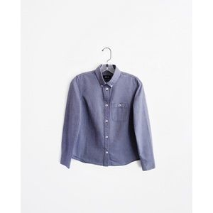 APC Muted Blue Oxford Long Sleeve BD Top sz XS